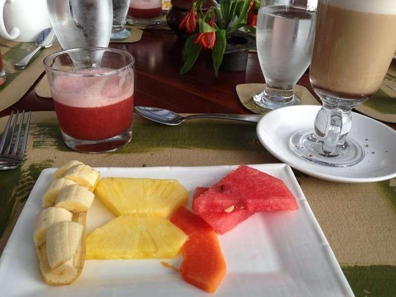 Finca Rosa Blanca coffee and fresh fruit Costa Rica