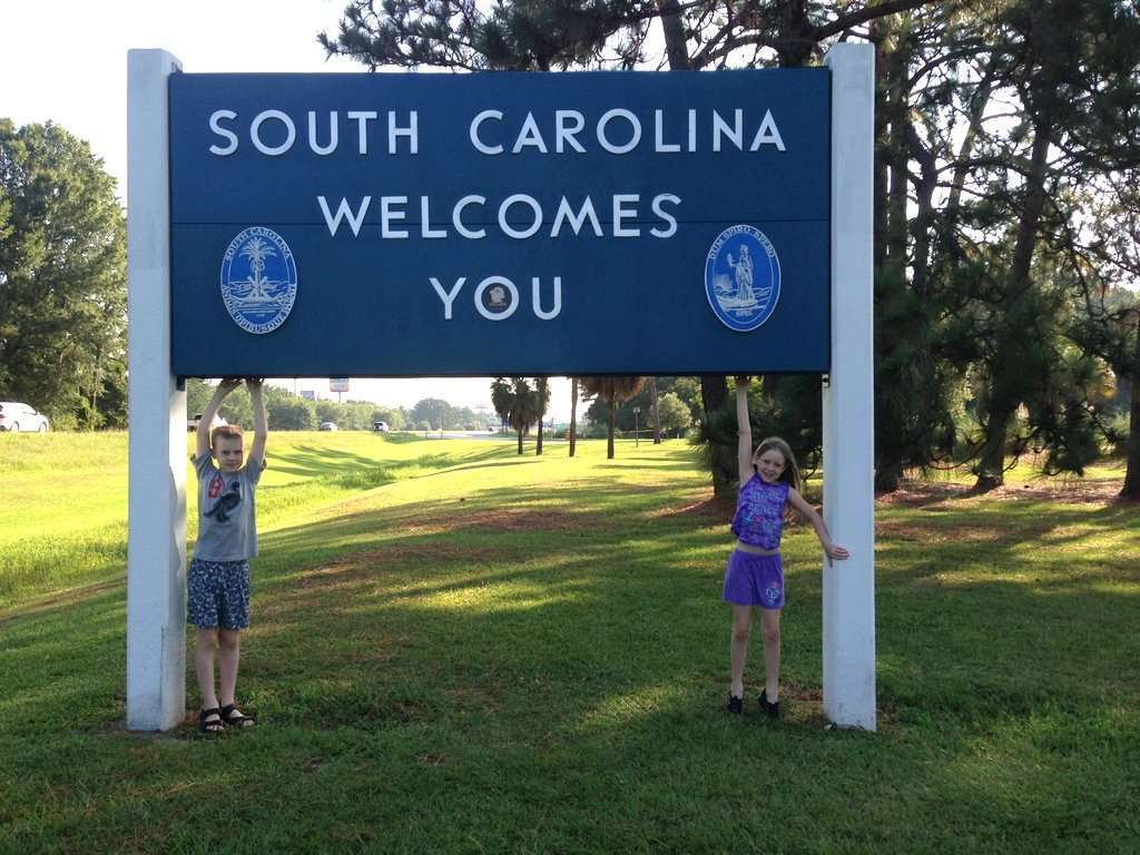 South Carolina Welcome Sign