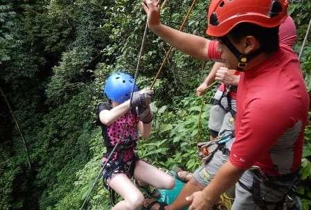 Waterfall Rappel in Costa Rica