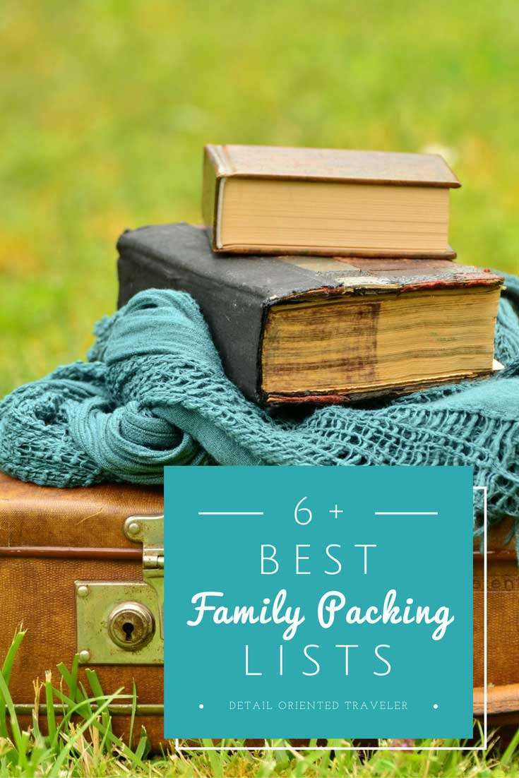 6 of the Best Packing lists for Families.