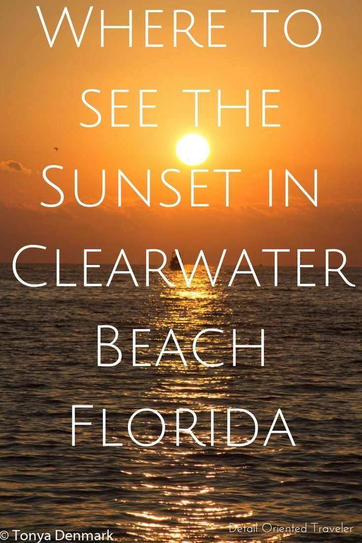 Where to see the Sunset in Clearwater Beach Florida