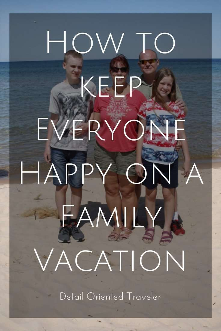 How to keep everyone happy on a family vacation.