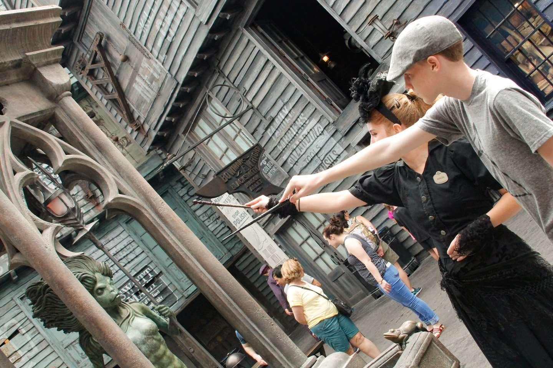 Interative Wands at Universal Studios
