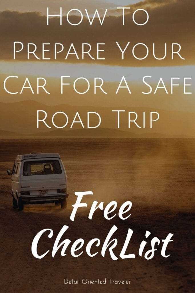 How to prepare your car for a safe road trip wide Free Checklist