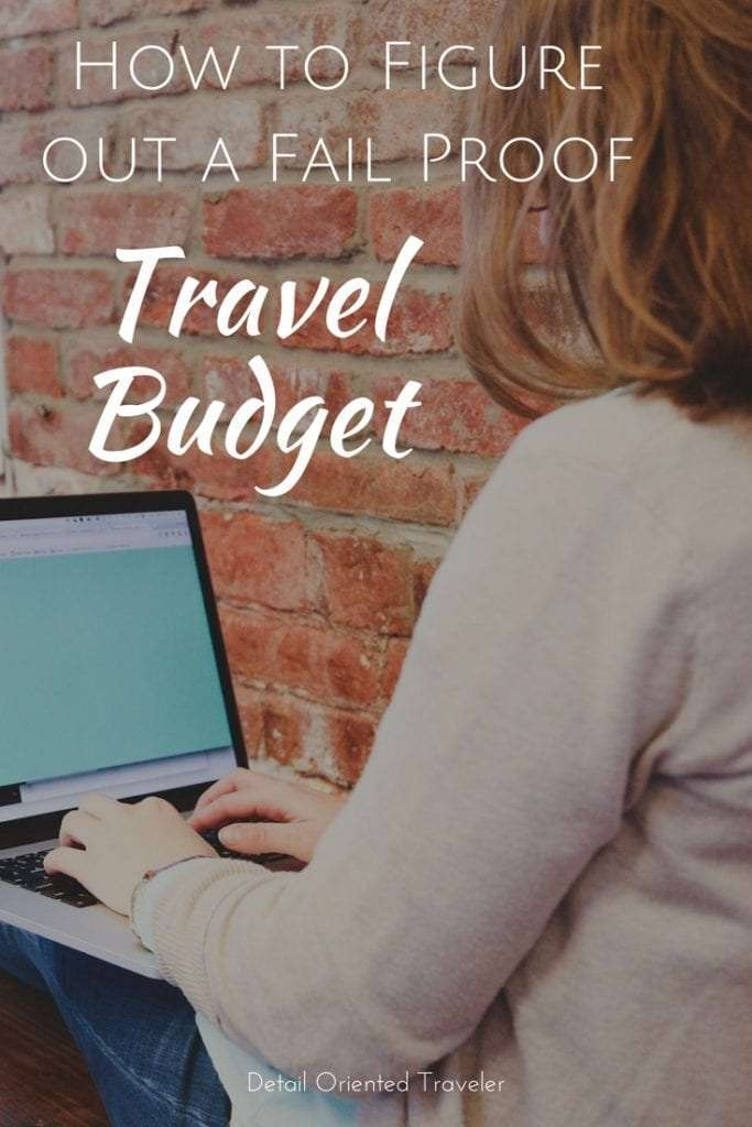 How to figure out a fail proof travel budget