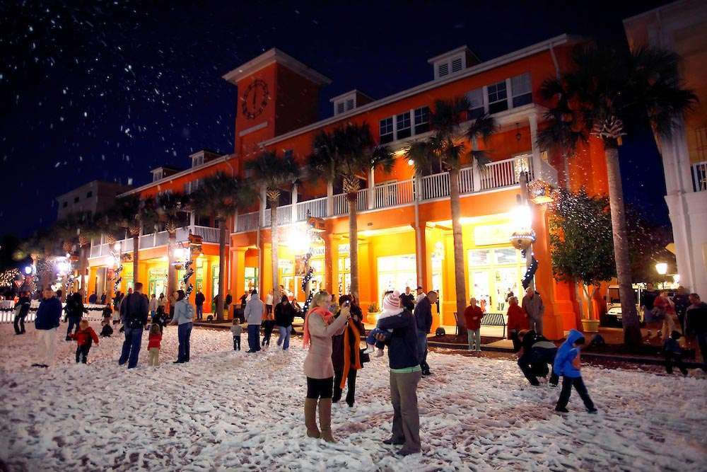 Christmas Events in Florida Snow at Celebration Florida