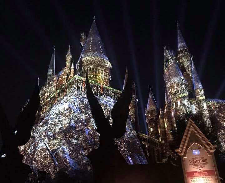 Christmas Events in Florida the holiday lights on Hogwarts Castle