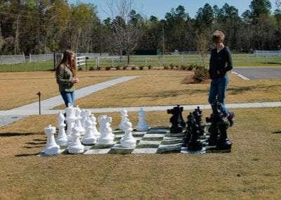 Outdoor Chess Match