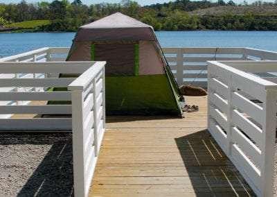 Overwater Tent Camping CreekFire RV