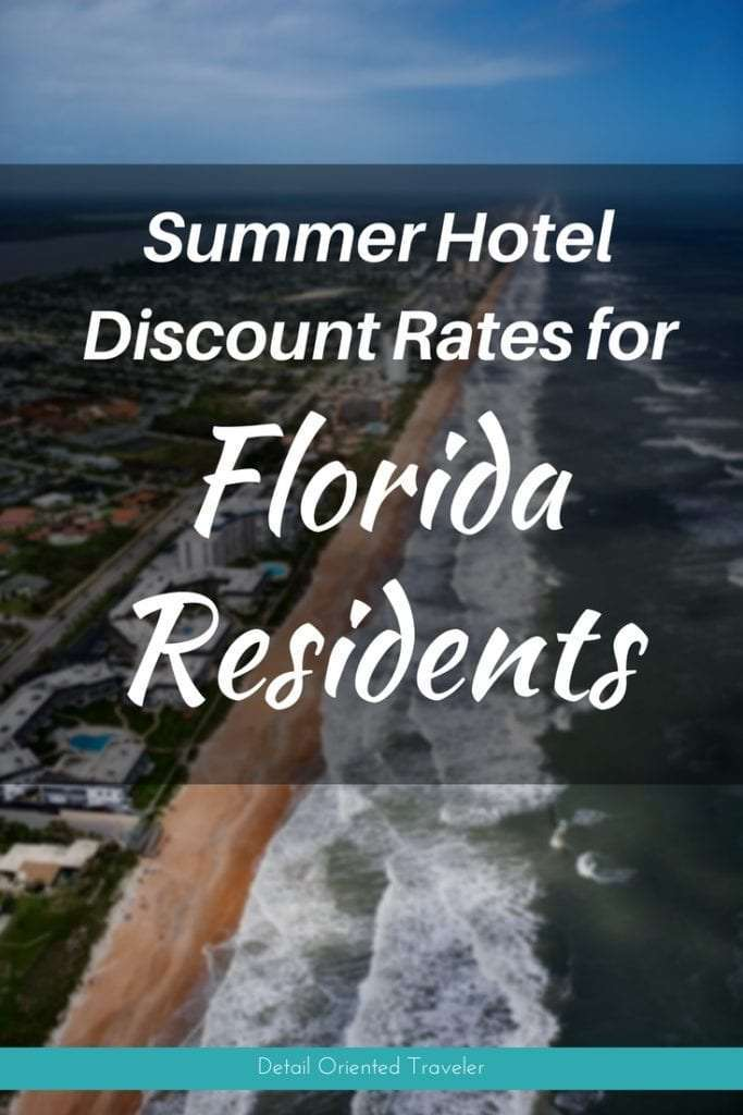 Florida Resident rates beach hotels along shoreline