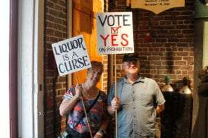 Prohibition Museum protest signs