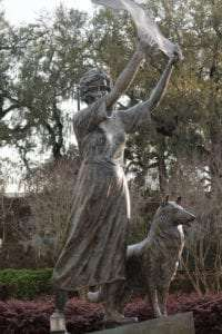 Savannah Waving Girl Statue