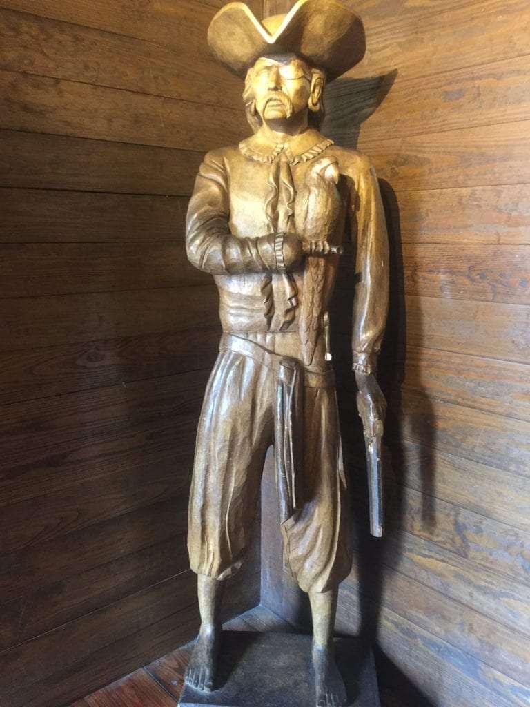 Pirate Statue at the Pirate House Savannah Georgia