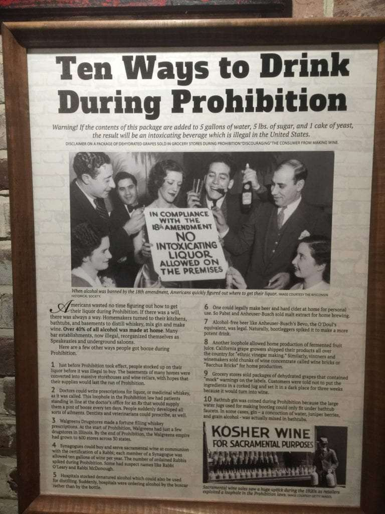 News article on 10 ways to drink during prohibition