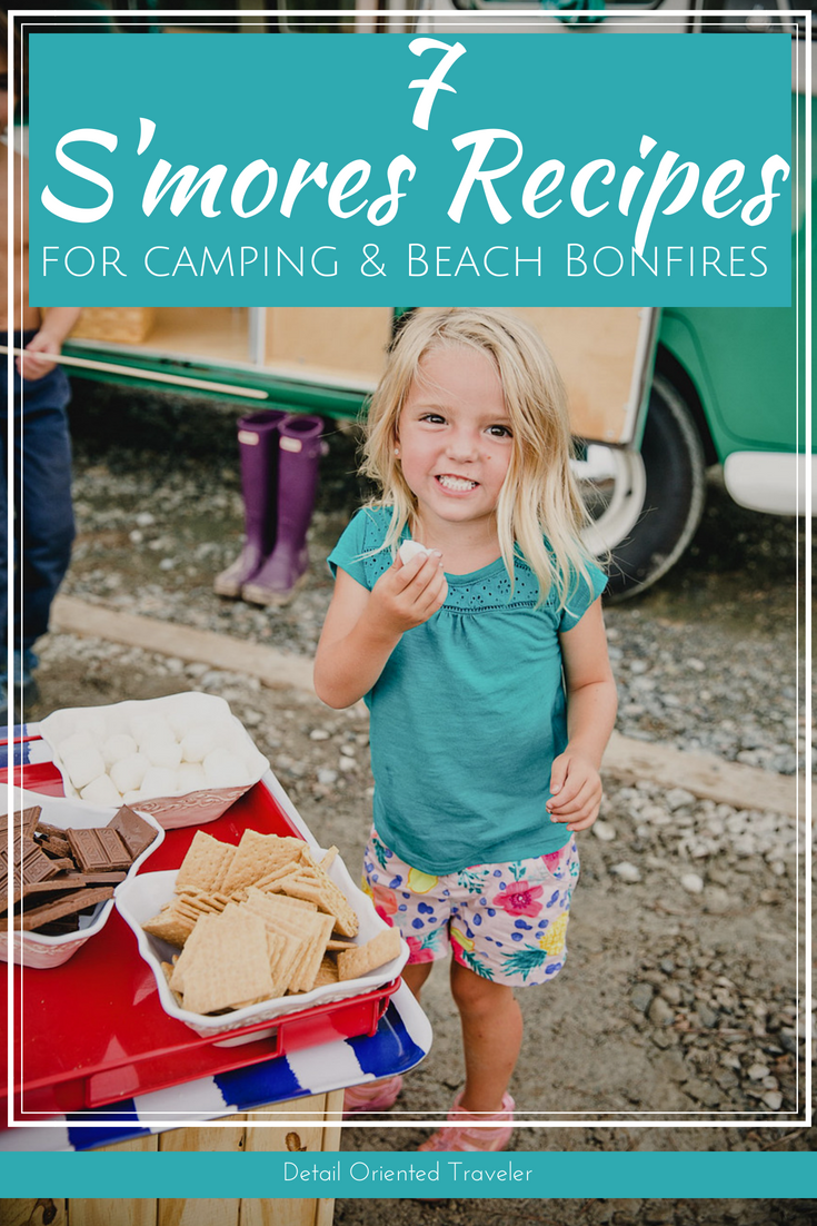 s'mores recipes for camping and beach bonfires