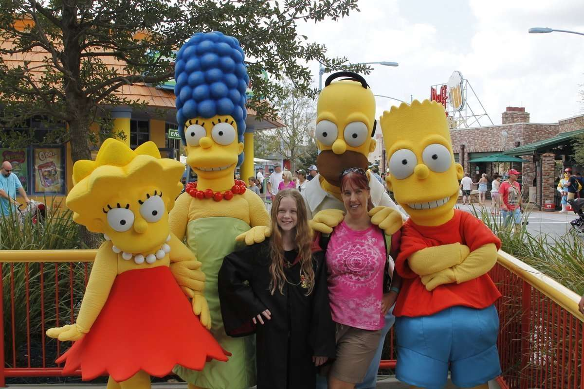 Universal Studios Tips Simpson Family