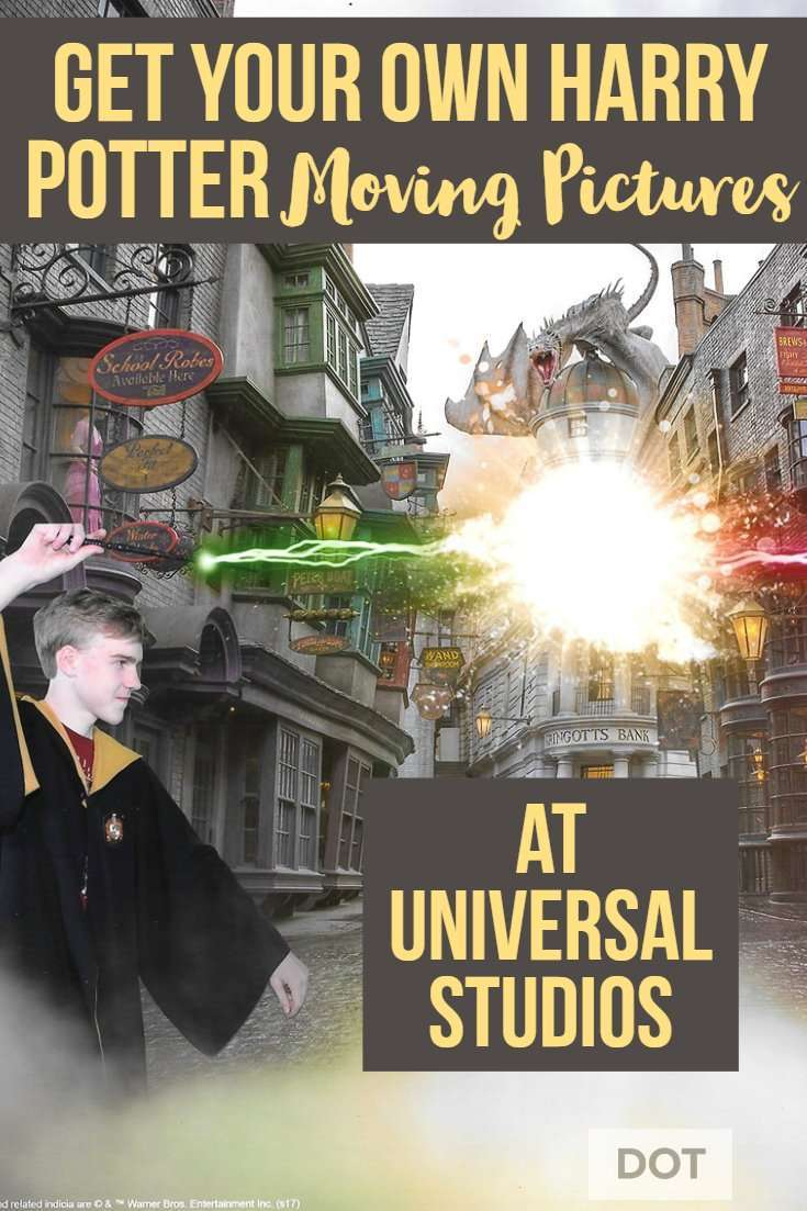 Harry Potter Moving Pictures Wands battle in front of Gringotts