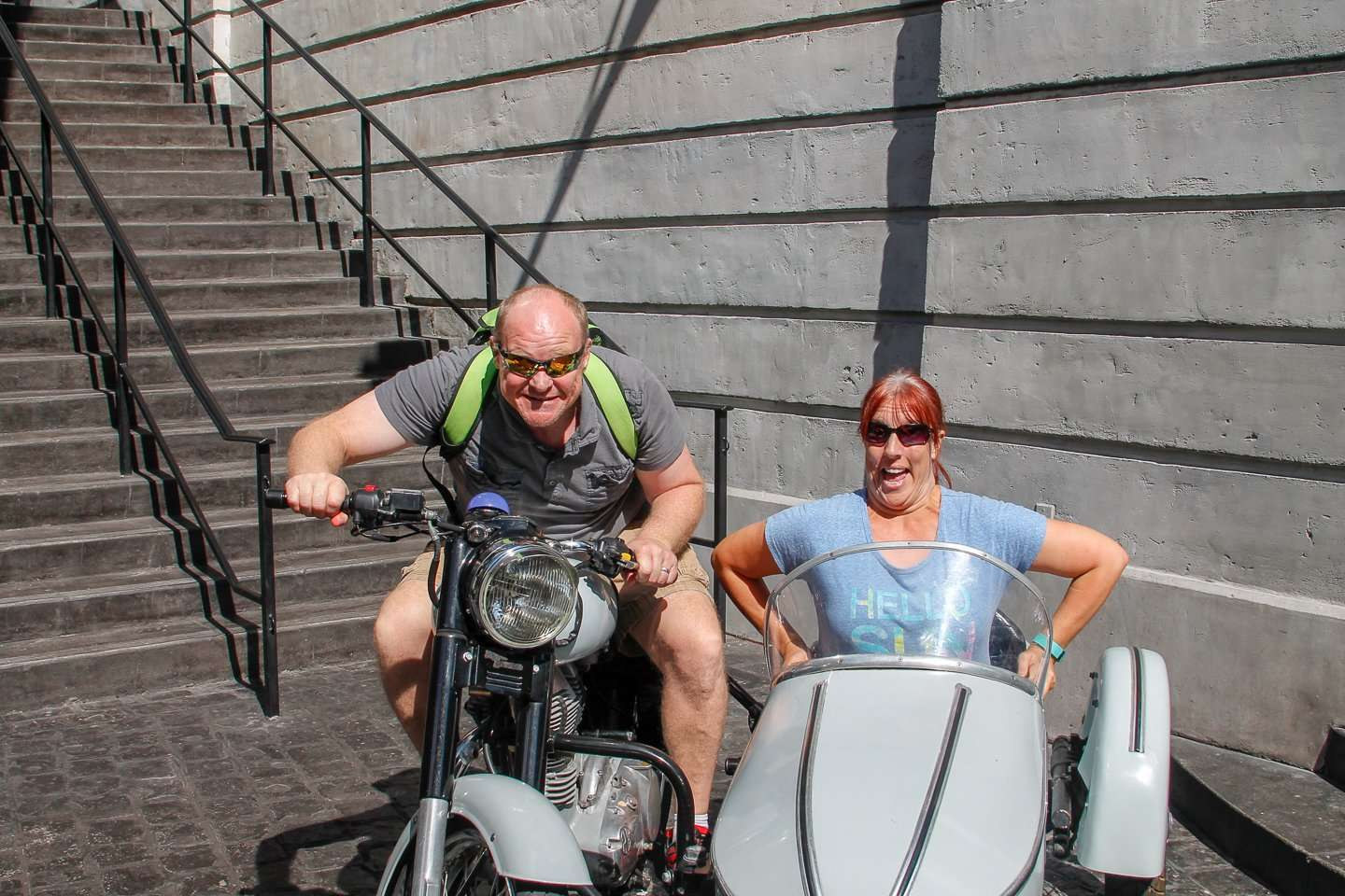 Wizarding World of Harry Potter Photo op with motor bike
