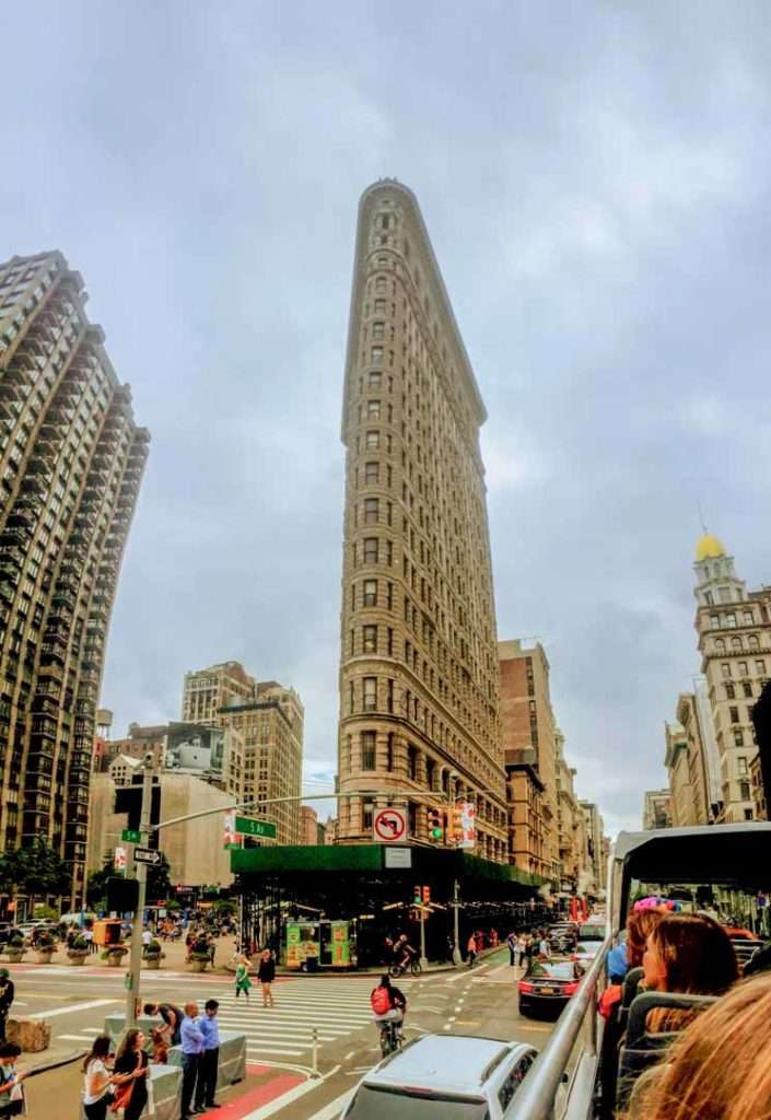 Flatiron Building during a bus tour of New York City