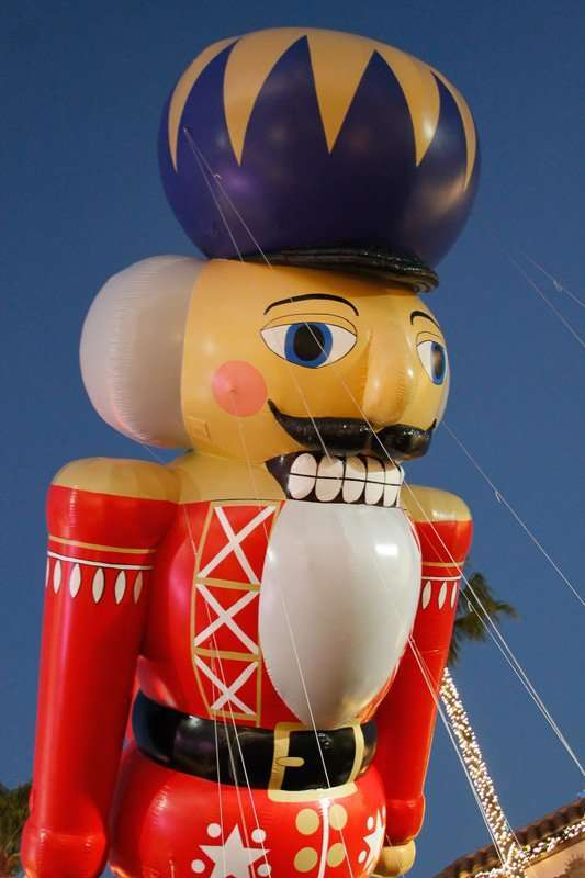 Christmas Celebrations in Florida with Nutcracker Balloon at Universal Studios