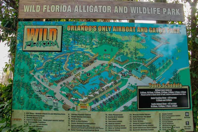 Wild Florida Airboats & Wildlife park map