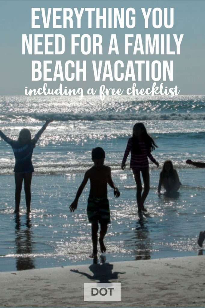 Pin for family beach vacation