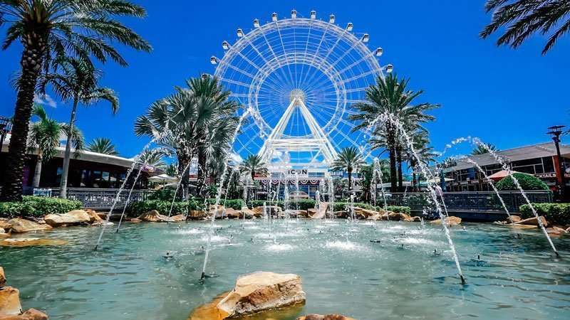 Family Friendly things to do in Orlando include the ICON Orlando Ferris Wheel