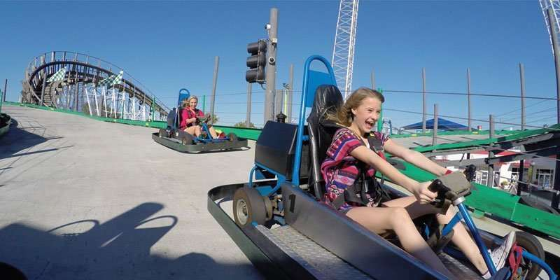 Family Friendly things to do in Orlando include Fun Spot Go Carts