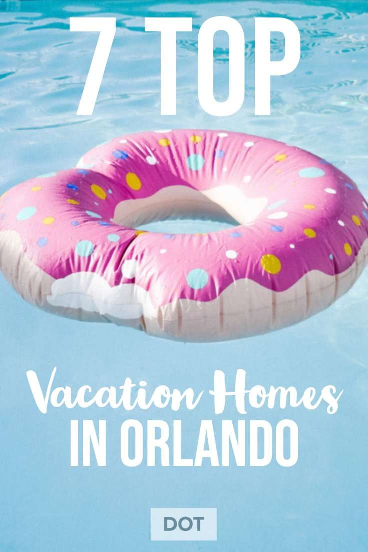 Rent a vacation home in orlando pool float with text
