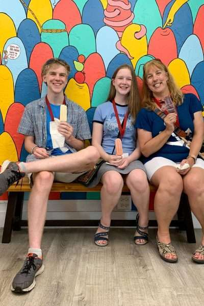 eating popsicles at Hyppo in St. Armands Circle
