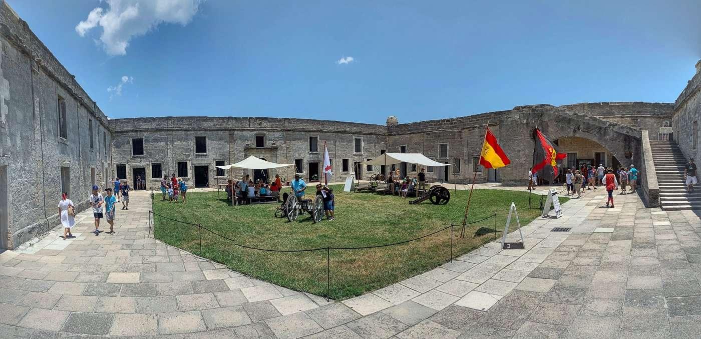 interior of Castillo de San Marcos St. Augustine's living history