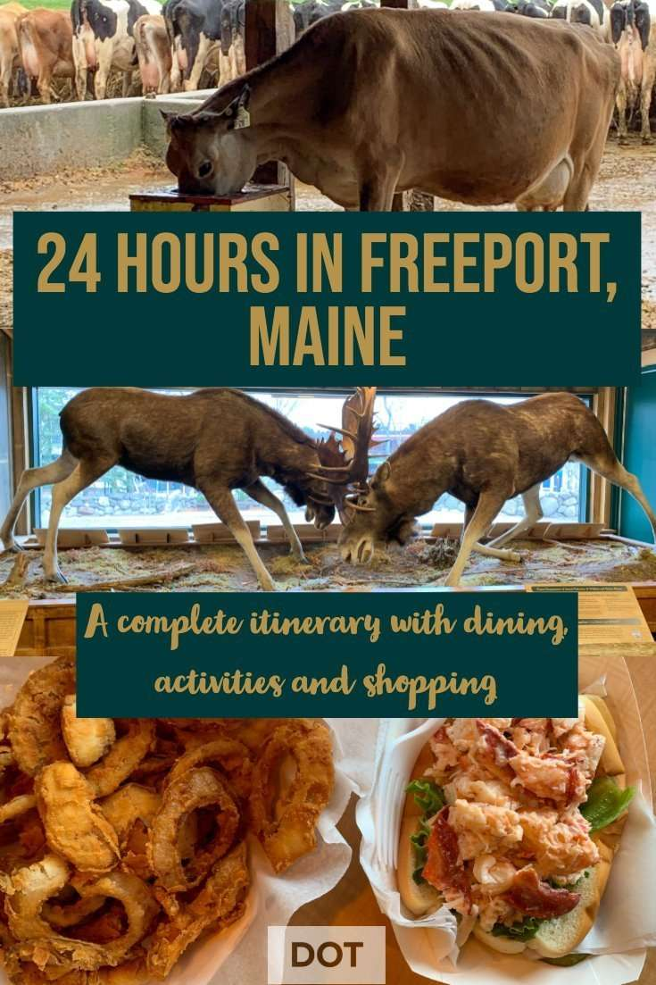 Pin describing 24 hours in Freeport, Maine