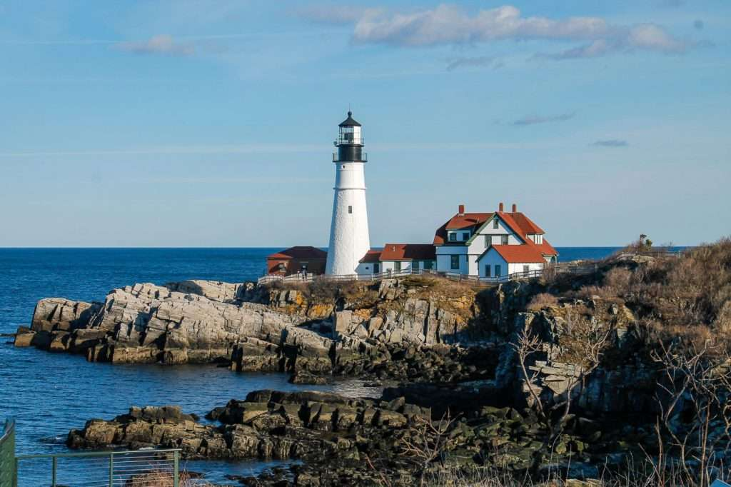 The Portland Head Lighthouse is iconic and the best of Portland, Maine