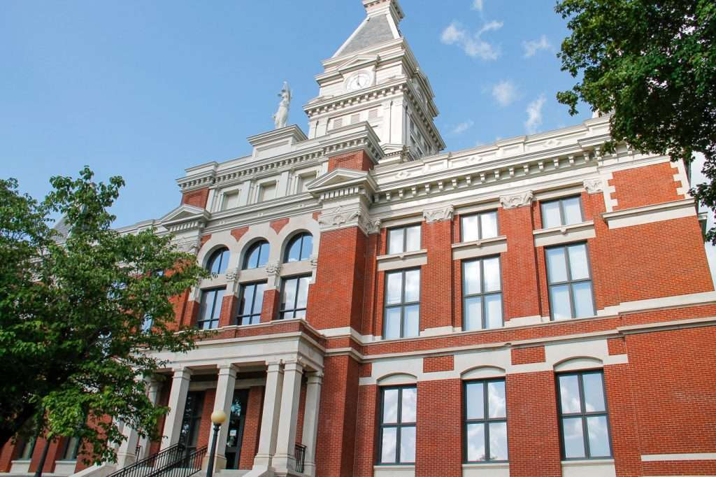 Montgomery County Courthouse as part of the walking tour of Clarksville