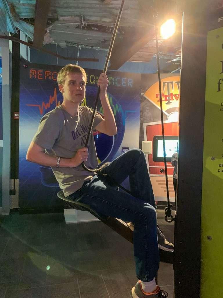 rope climbing at Wonderworks Orlando