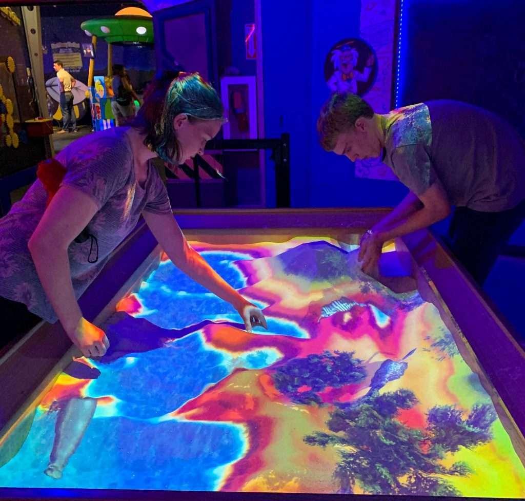 Creative sand at Wonderworks Orlando