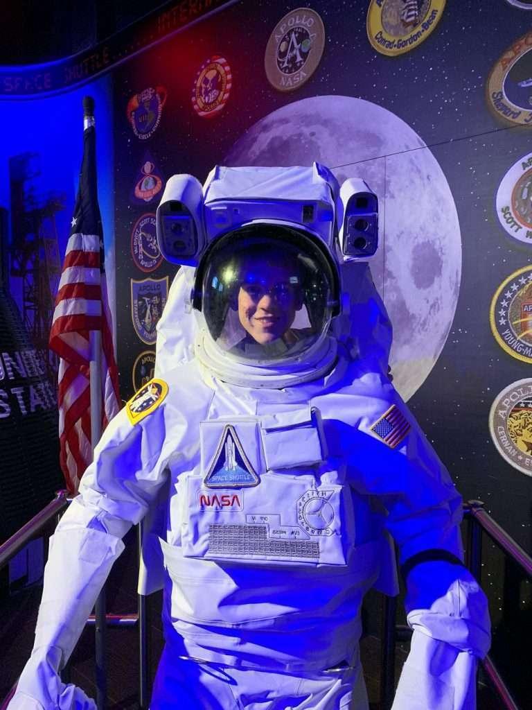 kid in space suit at Wonderworks Orlando