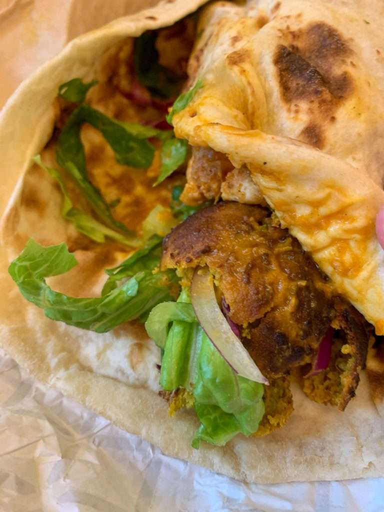 Dalup Modern Indian cuisine in a naan bread
