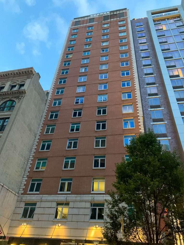 Exterior of the Hotel Hayden