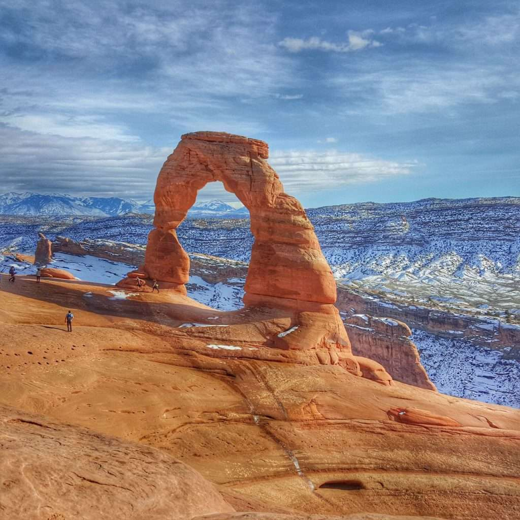 Arch in Arches National Park Utah, a top cheap destinations choice