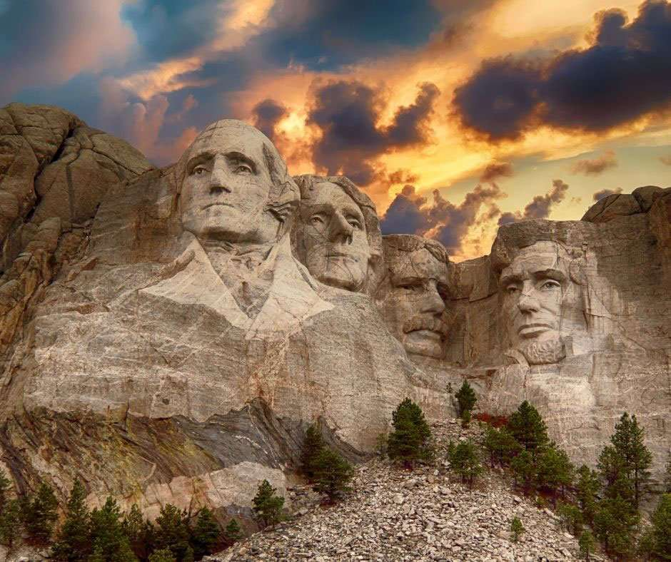 mount rushmore in sunset a spring break destinations for families