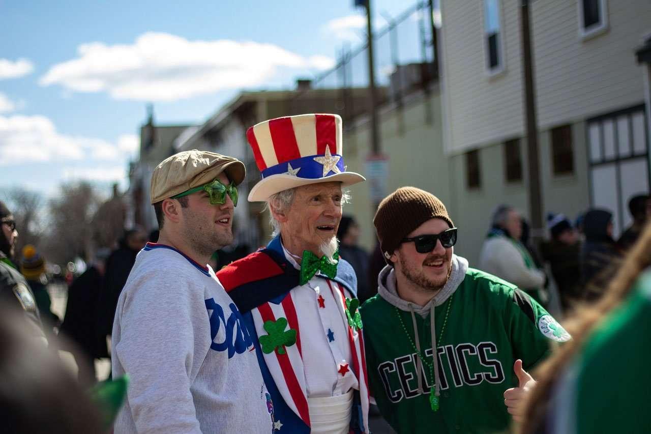 People in Boston celebrate St. Patrick's Day