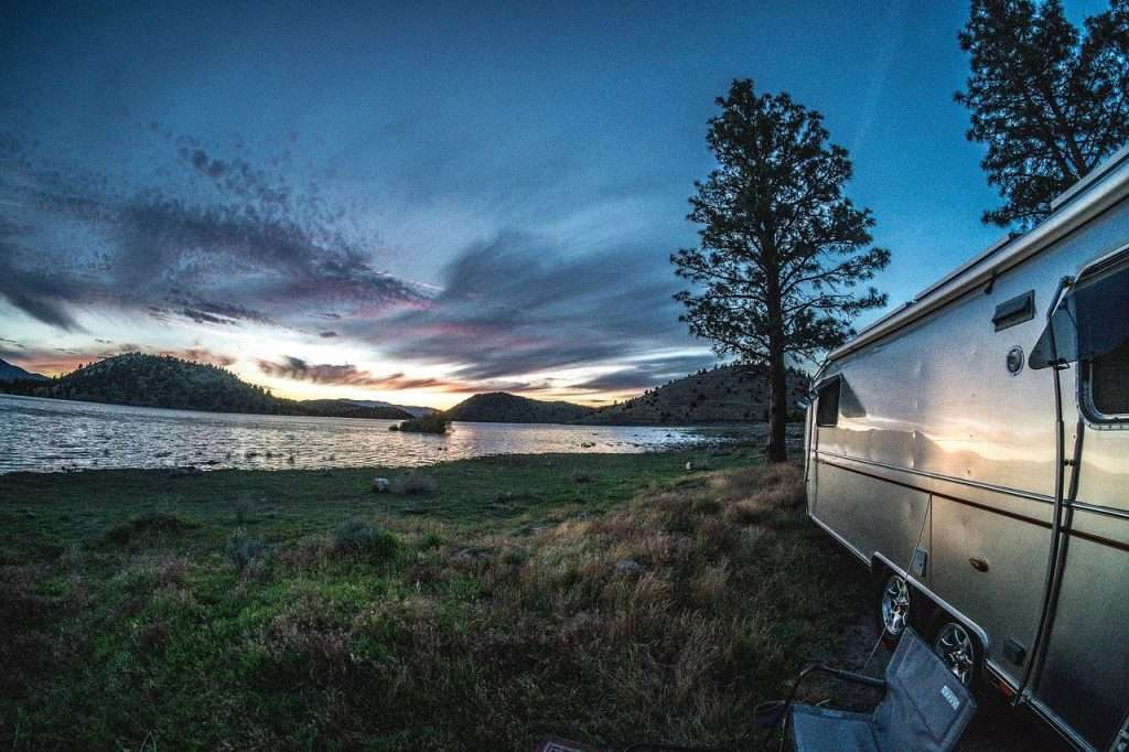 Camper on the lake RV safety