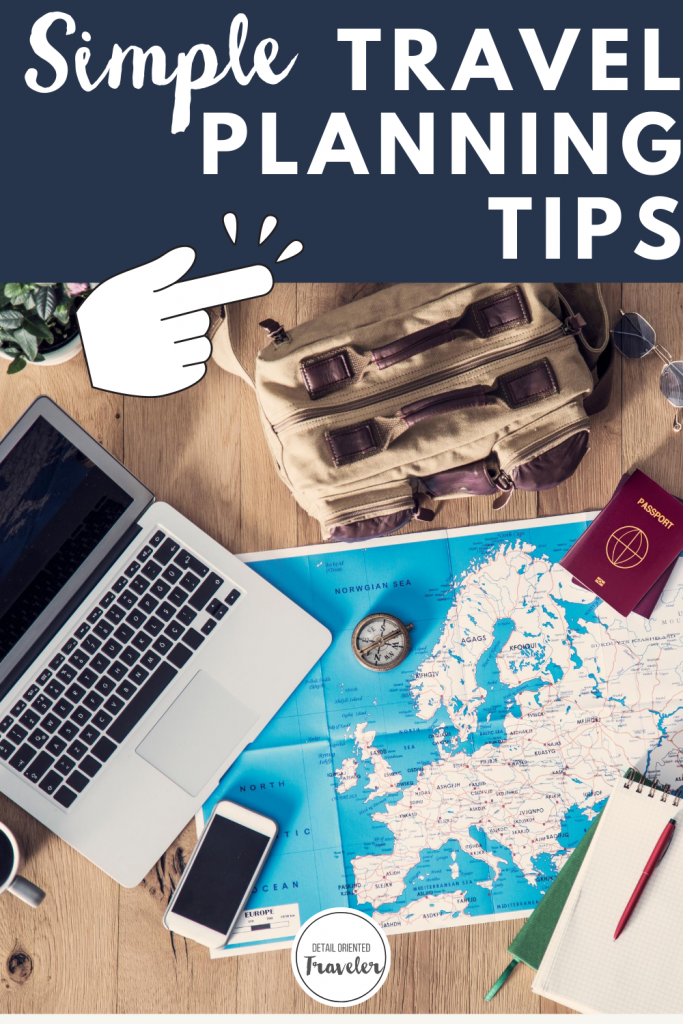 travel planning tips pin