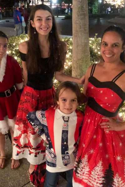 Family in St. Augustine NIght of Lights