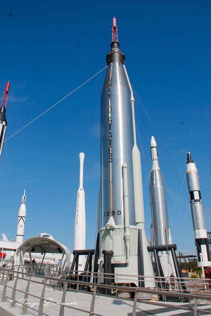 Rocket Garden at Kennedy Space Center in Titusville, Florida