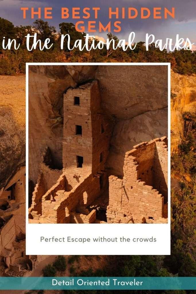 hidden Gems National Parks Pinterest image