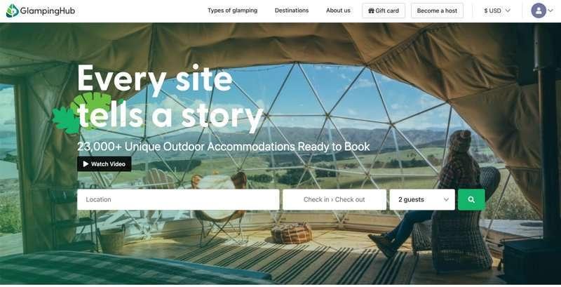 Glamping Hub Home page